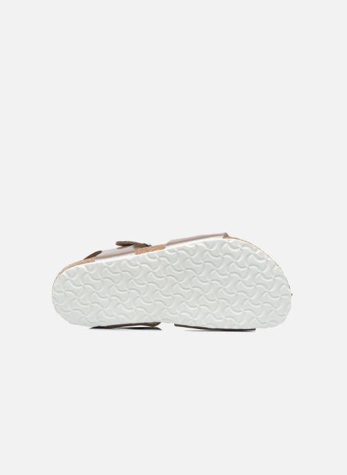 Sandali e scarpe aperte Birkenstock Rio Oro e bronzo immagine dall'alto