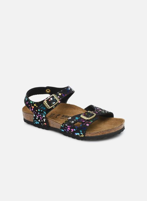 Sandales et nu-pieds Birkenstock Rio Noir vue détail/paire
