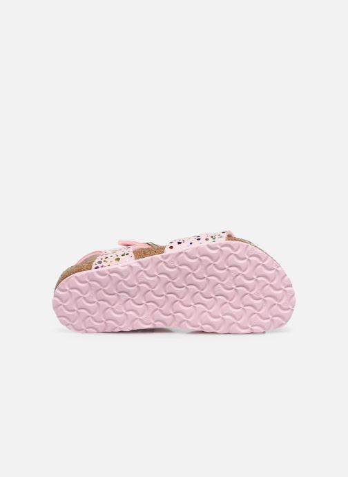 Sandalen Birkenstock Rio rosa ansicht von oben
