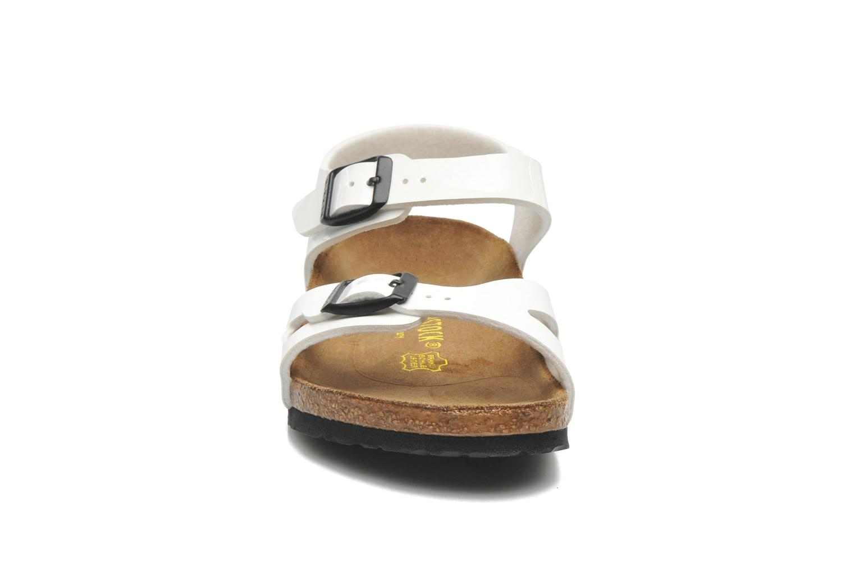 Sandales et nu-pieds Birkenstock Rio Blanc vue portées chaussures