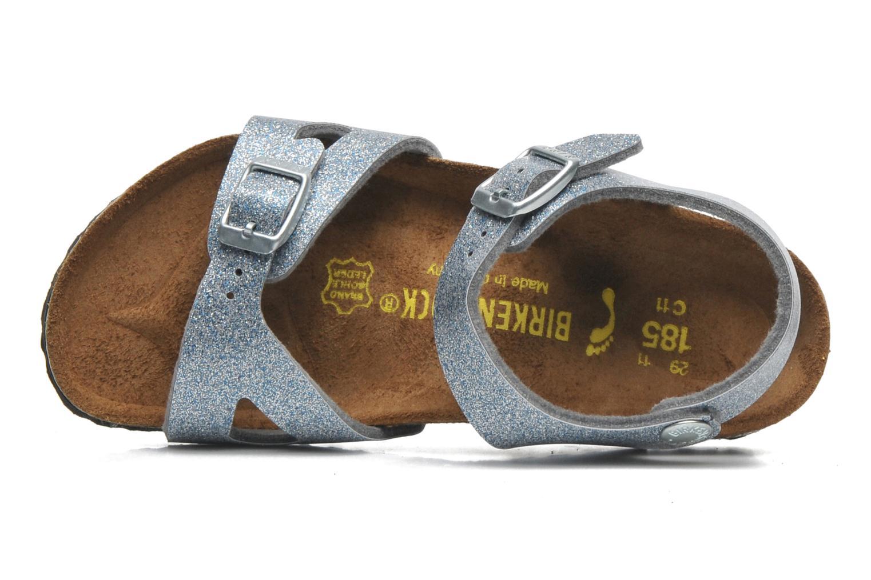 Sandales et nu-pieds Birkenstock Rio Argent vue gauche
