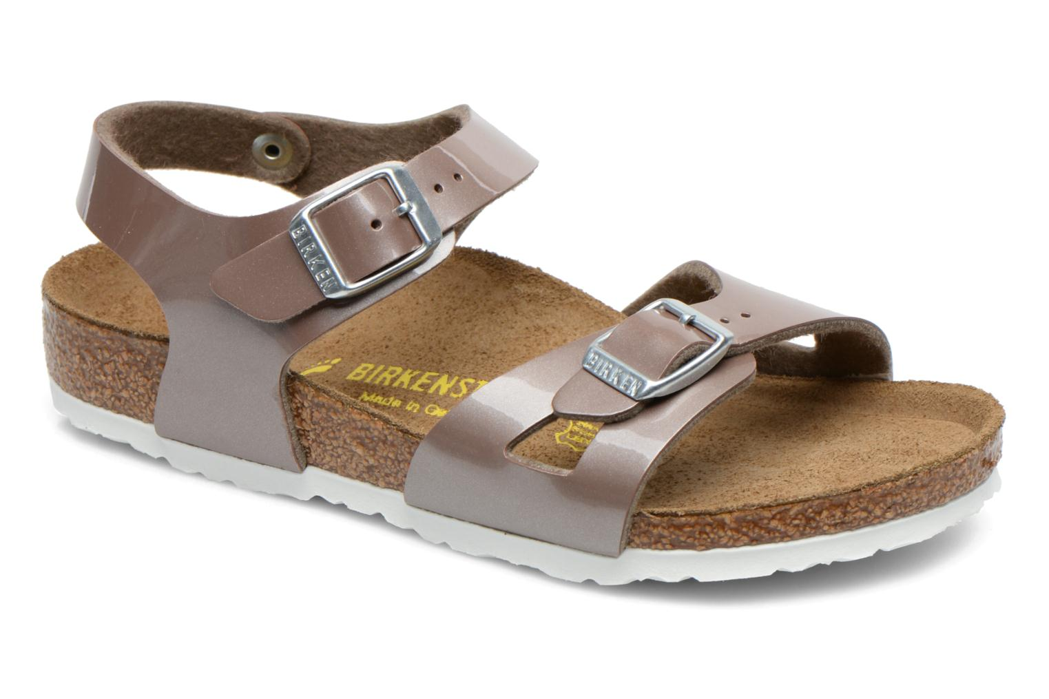 Sandals Birkenstock Rio Bronze and Gold detailed view/ Pair view
