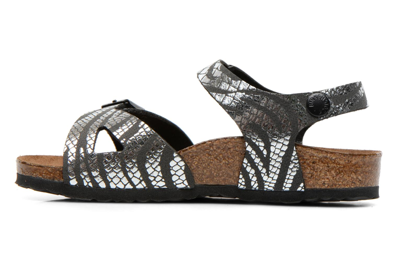 Sandalen Birkenstock Rio silber ansicht von vorne