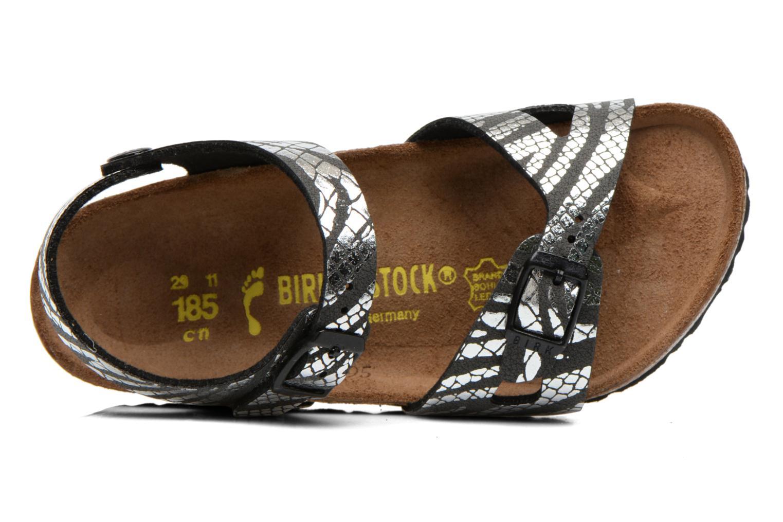 Sandalen Birkenstock Rio silber ansicht von links
