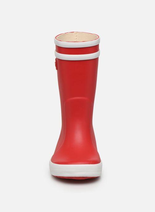 Stiefel Aigle Lolly Pop rot schuhe getragen
