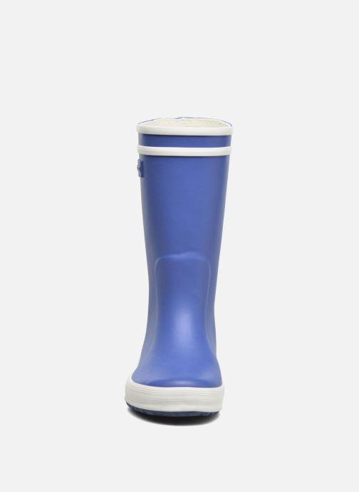 Bottes Aigle Lolly Pop Bleu vue portées chaussures