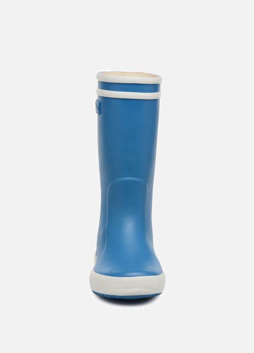 Stiefel Aigle Lolly Pop blau schuhe getragen