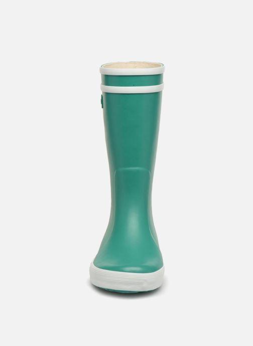 Stivali Aigle Lolly Pop Verde modello indossato