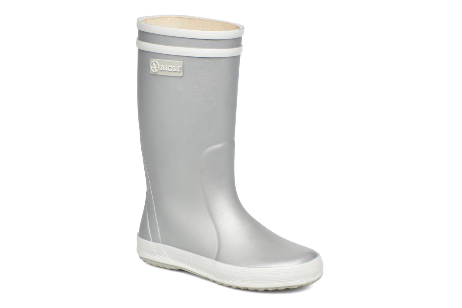 Boots & wellies Aigle Lolly Pop Grey detailed view/ Pair view