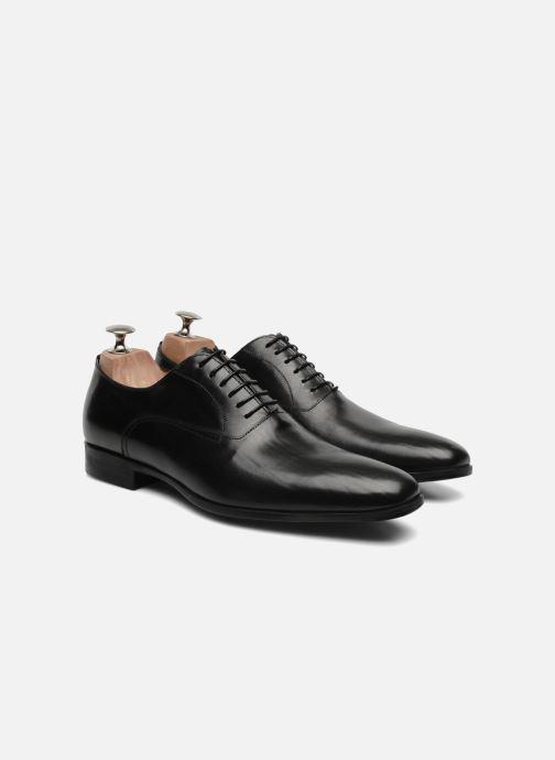 Chaussures à lacets Santoni William 07413 Noir vue 3/4