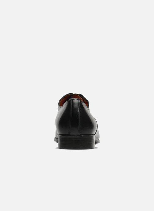 Chaussures à lacets Santoni William 07413 Noir vue droite