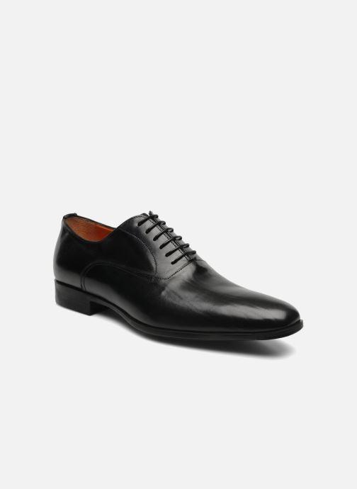 Lace-up shoes Santoni William 07413 Black detailed view/ Pair view