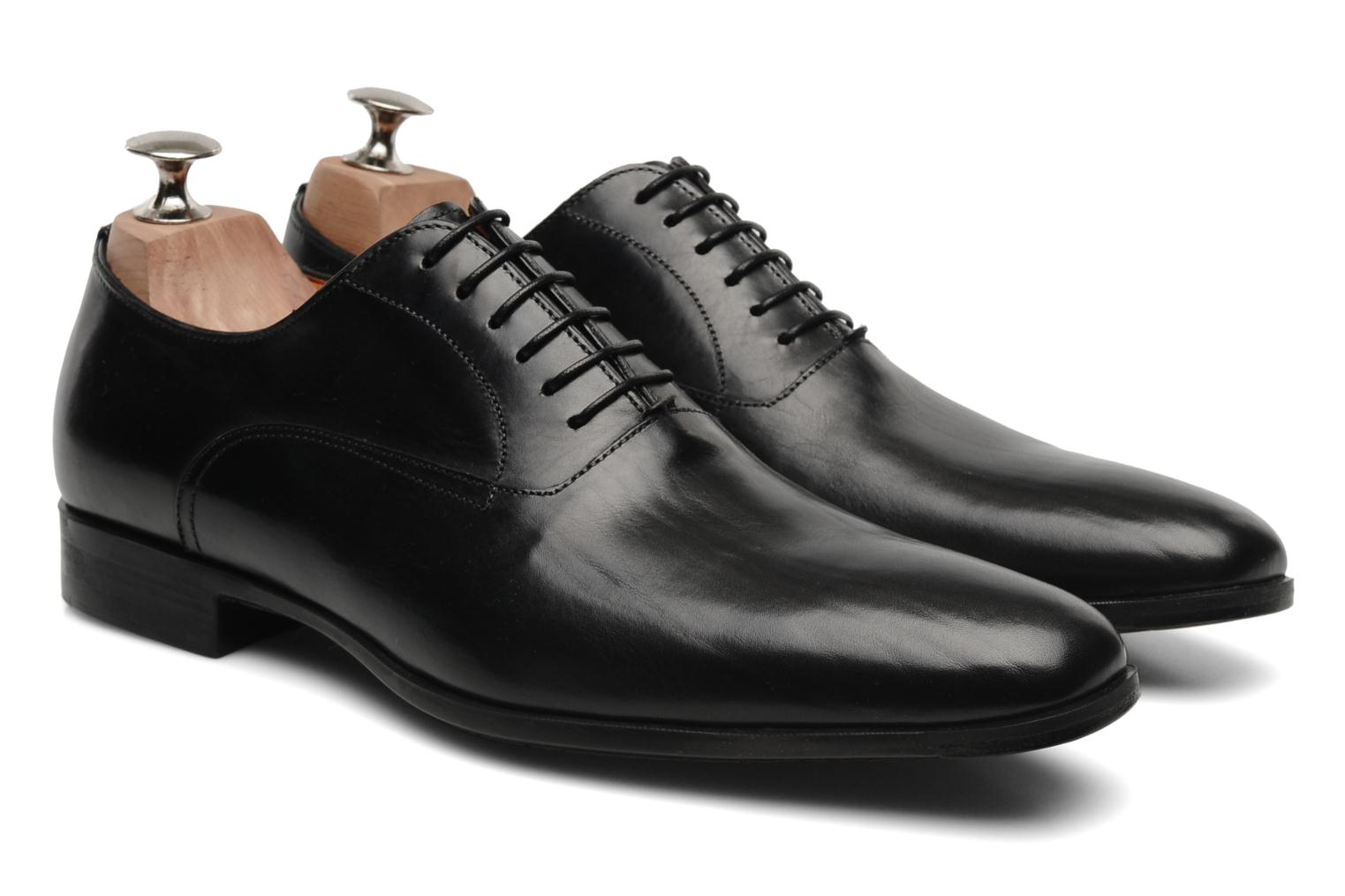 Lace-up shoes Santoni William 07413 Black 3/4 view