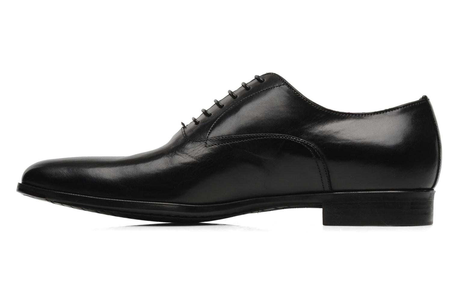 Lace-up shoes Santoni William 07413 Black front view