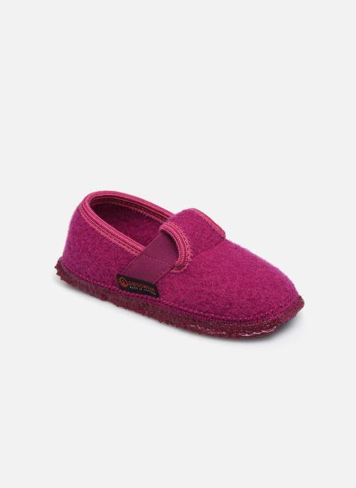 Hjemmesko Giesswein Türnberg Pink detaljeret billede af skoene