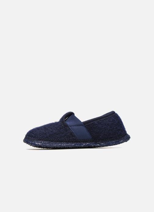 Pantofole Giesswein Türnberg Azzurro immagine frontale