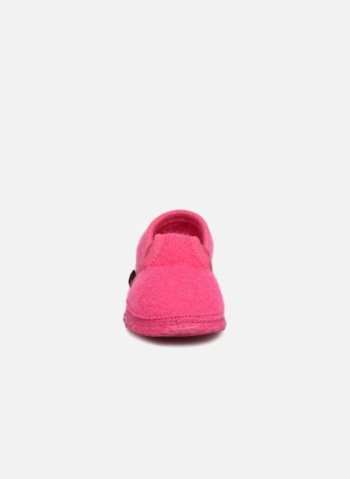 Hausschuhe Giesswein Türnberg rosa schuhe getragen