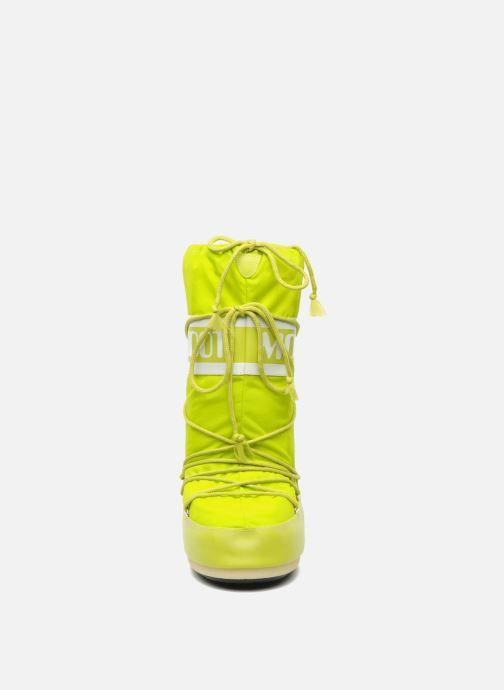 Chaussures de sport Moon Boot Moon Boot Nylon W Jaune vue portées chaussures