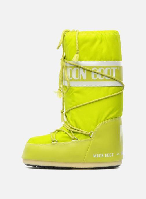 Chaussures de sport Moon Boot Moon Boot Nylon W Jaune vue face