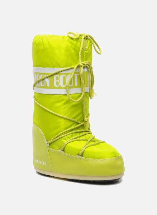 Sport shoes Moon Boot Moon Boot Nylon Yellow detailed view/ Pair view