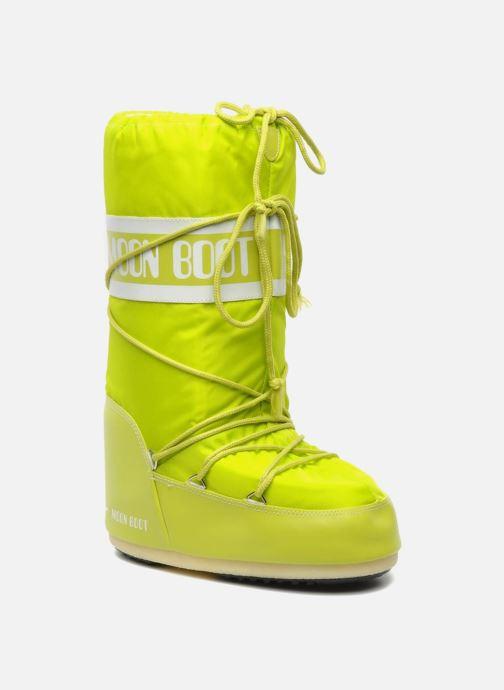 Chaussures de sport Moon Boot Moon Boot Nylon W Jaune vue détail/paire