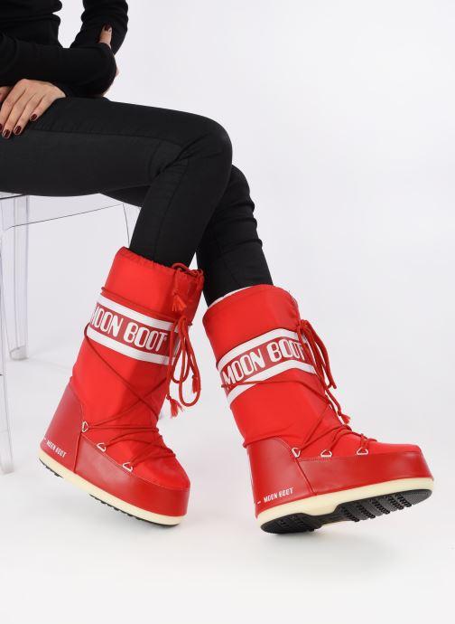 Chaussures de sport Moon Boot Moon Boot Nylon W Rouge vue bas / vue portée sac
