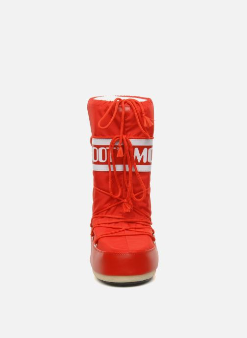 Scarpe sportive Moon Boot Moon Boot Nylon Rosso modello indossato