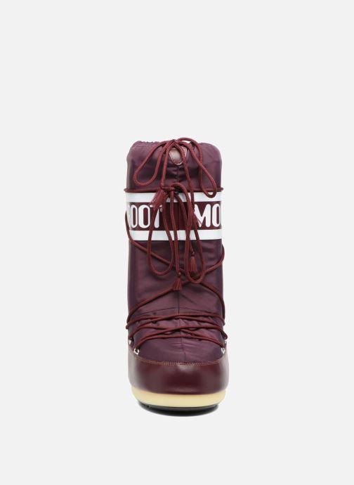 Sportschuhe Moon Boot Moon Boot Nylon weinrot schuhe getragen