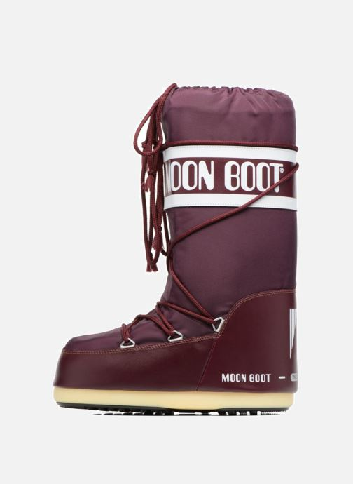 Sport shoes Moon Boot Moon Boot Nylon Burgundy front view