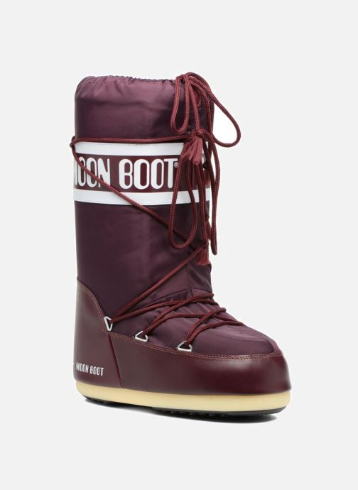 Sport shoes Moon Boot Moon Boot Nylon Burgundy detailed view/ Pair view