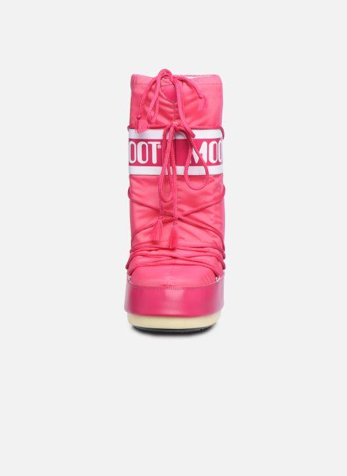 Chaussures de sport Moon Boot Moon Boot Nylon W Rose vue portées chaussures