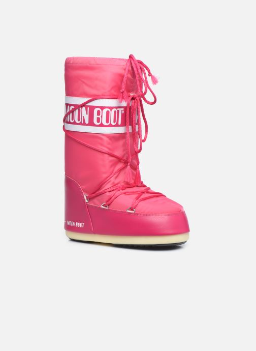 Sport shoes Moon Boot Moon Boot Nylon Pink detailed view/ Pair view