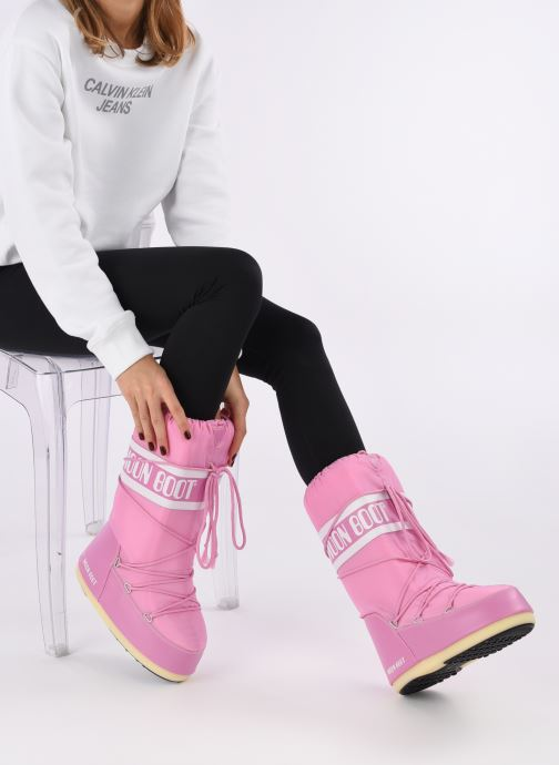 Boot Moon Pink Boot Moon Nylon Pink Moon Nylon Nylon Boot 5RjcAL3S4q