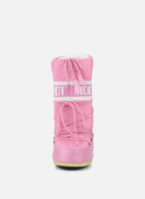 Sportschuhe Moon Boot Moon Boot Nylon rosa schuhe getragen