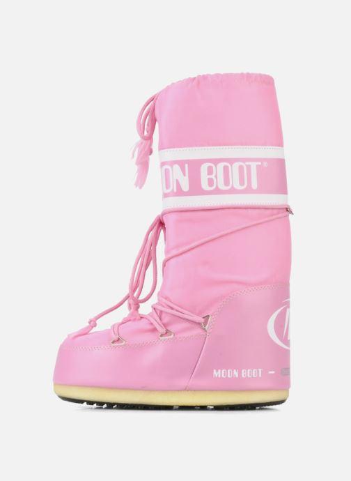 Sportschuhe Moon Boot Moon Boot Nylon rosa ansicht von vorne