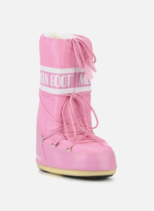 Sportssko Moon Boot Moon Boot Nylon Pink detaljeret billede af skoene