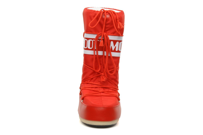 Sportschuhe Moon Boot Moon Boot Nylon rot schuhe getragen