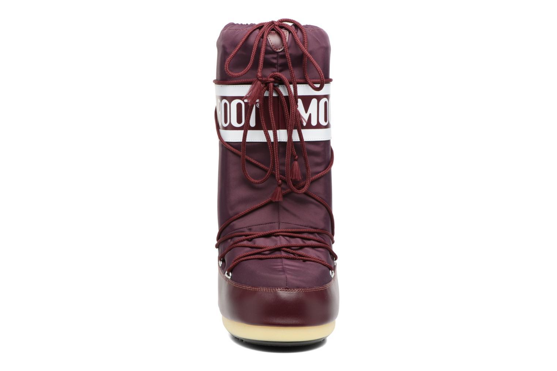 Chaussures de sport Moon Boot Moon Boot Nylon W Bordeaux vue portées chaussures
