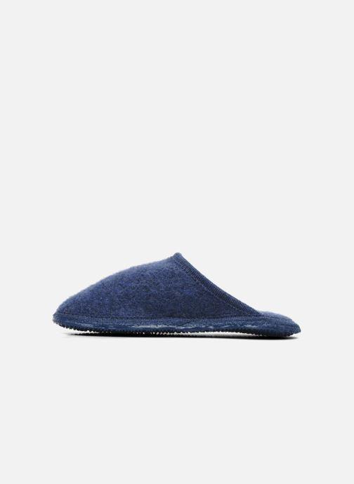 Pantuflas Giesswein Tino Azul vista de frente