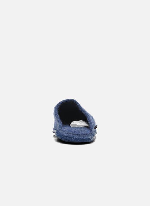 Pantofole Giesswein Tino Azzurro immagine posteriore