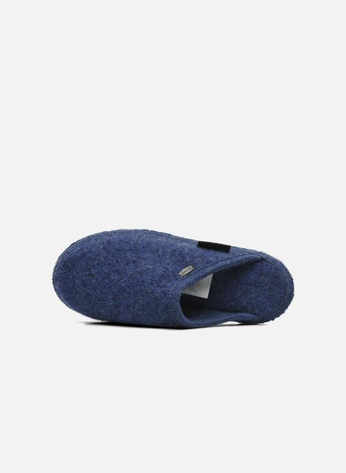 Pantuflas Giesswein Tino Azul vista lateral izquierda