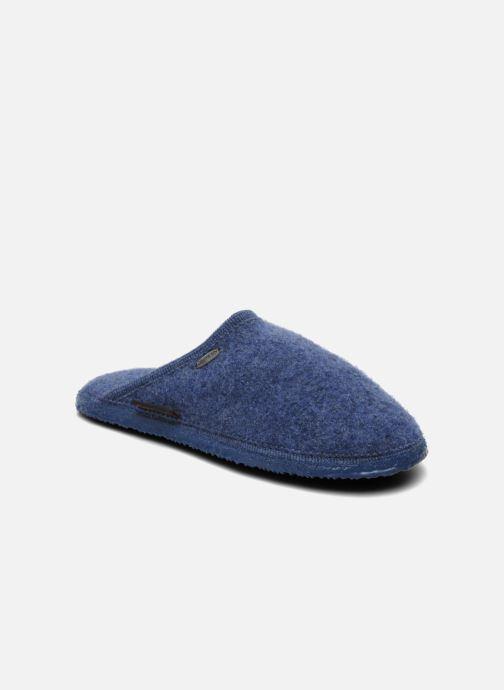 Pantuflas Giesswein Tino Azul vista de detalle / par