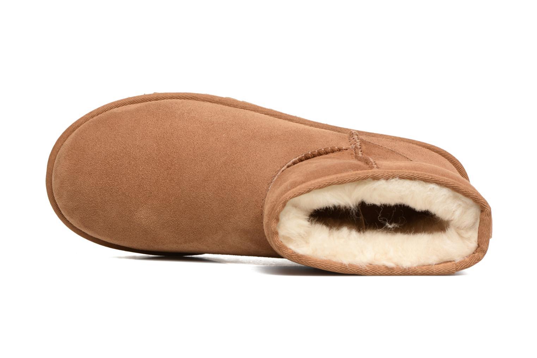 Bottines et boots UGG Classic Mini Marron vue gauche