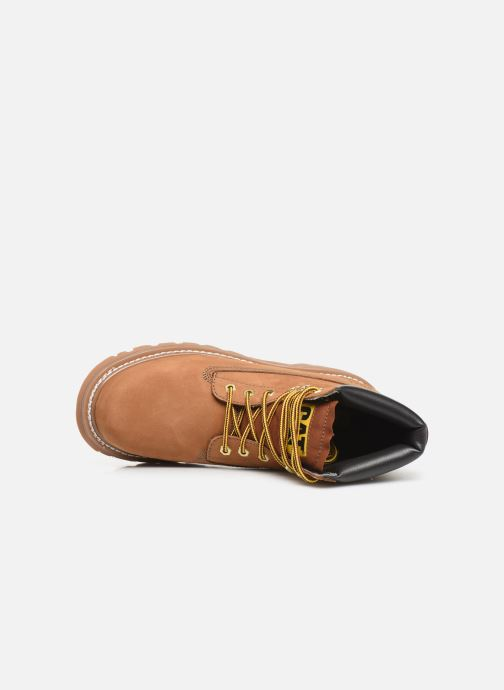 Ankle boots Caterpillar Colorado Brown view from the left