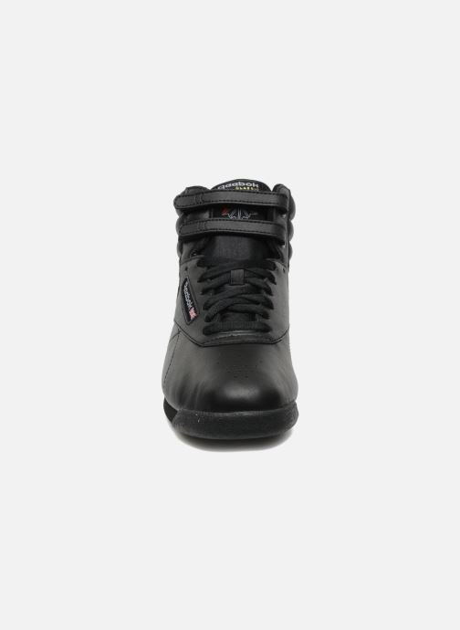 Trainers Reebok Freestyle Hi Black model view