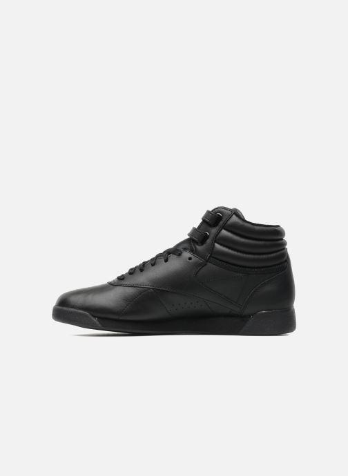 Sneakers Reebok Freestyle Hi Zwart voorkant