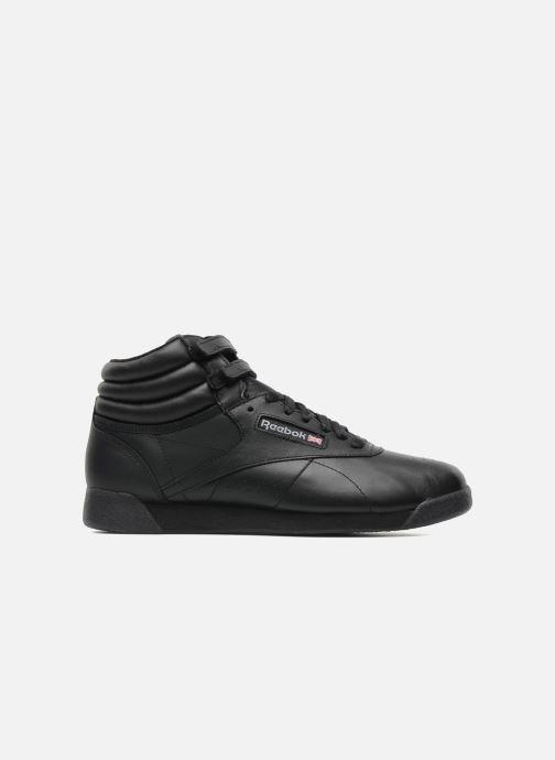 Sneaker Reebok Freestyle Hi schwarz ansicht von hinten