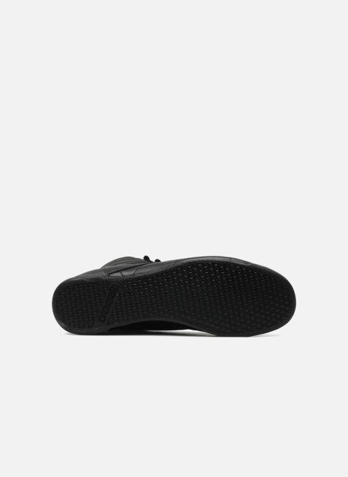 Sneaker Reebok Freestyle Hi schwarz ansicht von oben