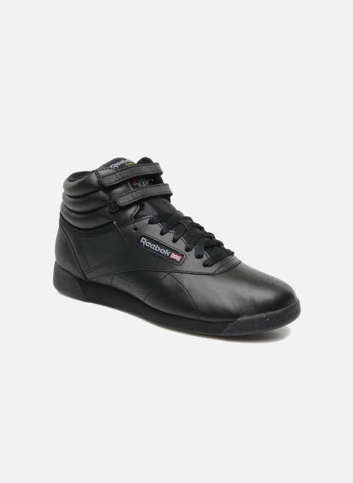 Baskets Reebok Freestyle Hi Noir vue détail/paire