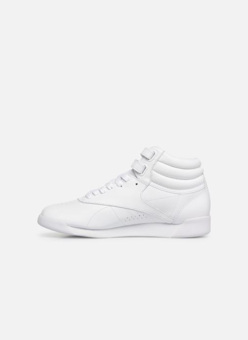 Sneakers Reebok Freestyle Hi Bianco immagine frontale